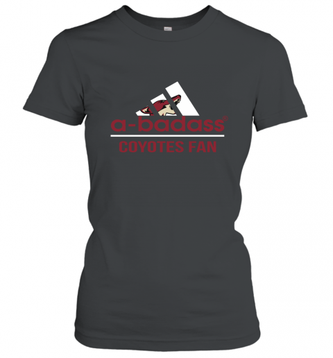 NHL A Badass Arizona Coyotes Fan Adidas Hockey Sports Women's T-Shirt