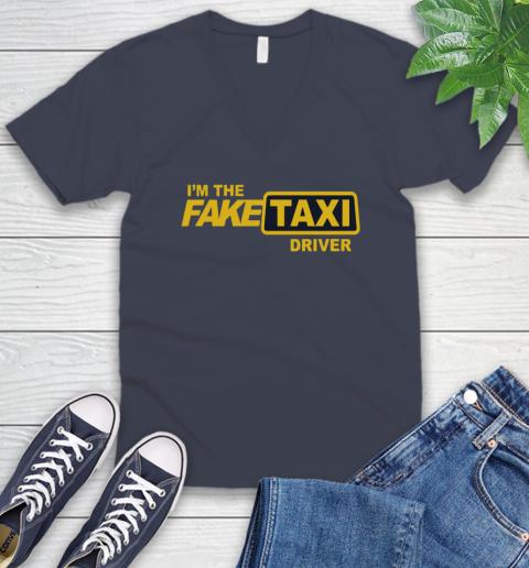 I am the Fake taxi driver V-Neck T-Shirt 9