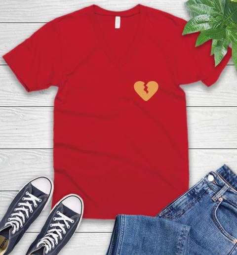 Marcus Lemonis broken heart V-Neck T-Shirt 7