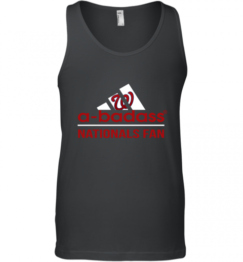 MLB A Badass Washington Nationals Fan Adidas Baseball Sports Tank Top