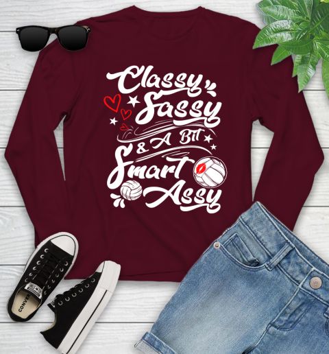 Volleyball Classy Sassy Youth Long Sleeve 6