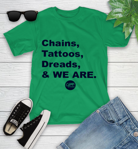 Penn State Chains Tattoos Dreads And We Are Youth T-Shirt 3