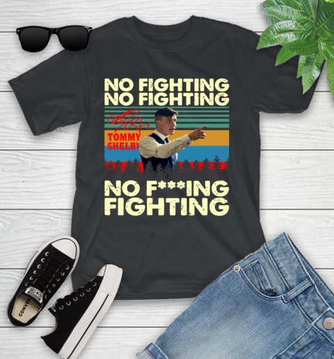 Tommy Shelby No Fighting Signature Vintage Youth T-Shirt