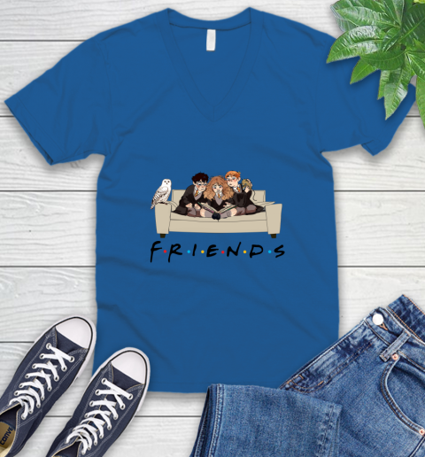 Harry Potter Ron And Hermione Friends Shirt V-Neck T-Shirt 3