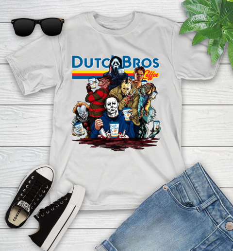 Horror Characters with Dutch Bros Coffee Youth T-Shirt