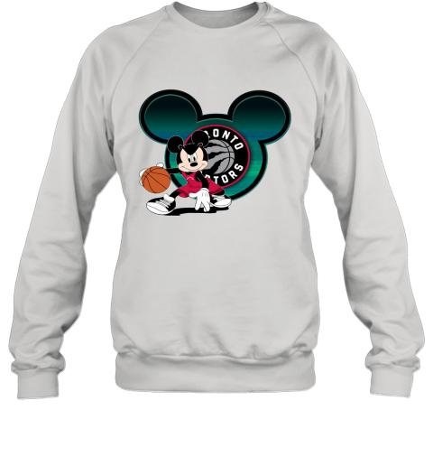 NBA Toronto Raptors Mickey Mouse Disney Basketball Sweatshirt