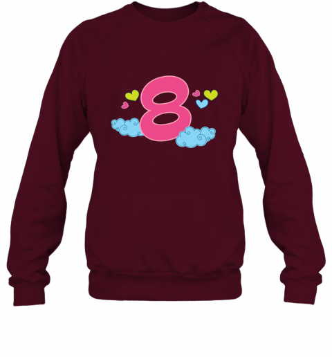 8th Birthday Gift Shirt Cute 8 Year Old Kids Sweatshirt