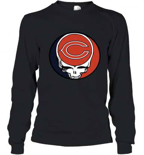 Chicago Bears Grateful Dead Steal Your Face Football NFL Youth Long Sleeve T-Shirt