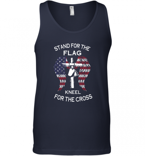 stand for the flag kneel for the cross Tank Top