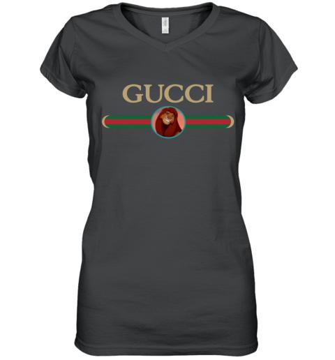 Lion King Simba Gucci Women's V-Neck T-Shirt