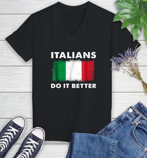 Italians Do It Better Women's V-Neck T-Shirt 1