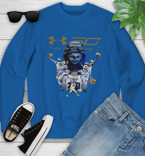 Stephen Curry I Can Do All Things Signature Youth Sweatshirt 7