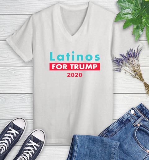 Latinos Trump 2020 Women's V-Neck T-Shirt
