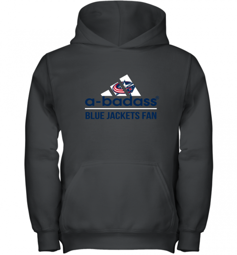 NHL A Badass Columbus Blue Jackets Fan Adidas Hockey Sports Youth Hoodie