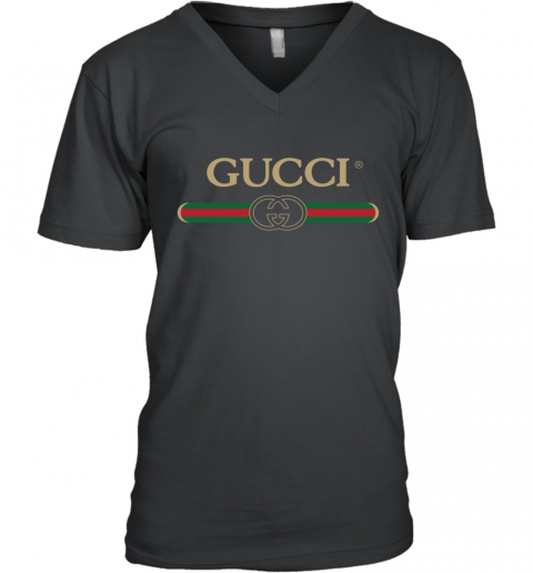 Gucci Shirt Logo V-Neck T-Shirt