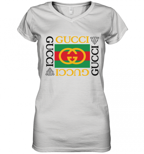 Gucci Lion Limited Edition Women's V-Neck T-Shirt