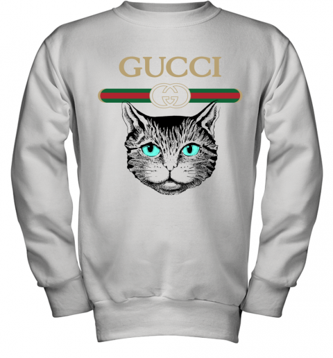 Gucci Logo Black Cat Secret Youth Sweatshirt