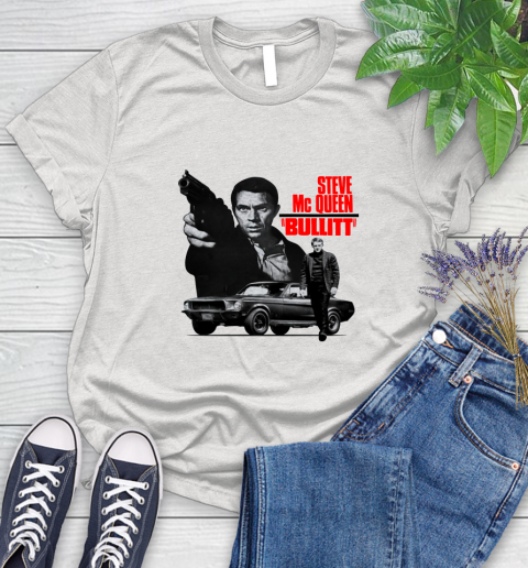 1960 Mustang Steve Mc Queen Bullitt Womens T Shirt
