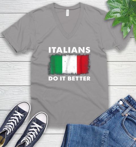 Italians Do It Better V-Neck T-Shirt 3