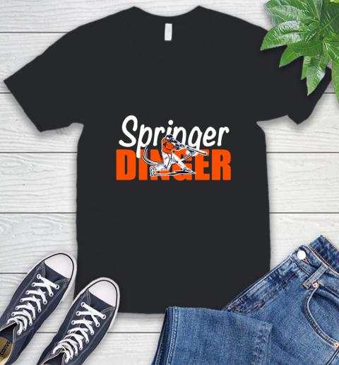 Houston Springer Dinger Fan Shirt V-Neck T-Shirt