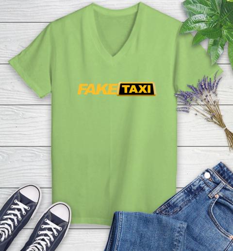 Fake taxi Women's V-Neck T-Shirt 11