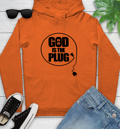 God is the plug Youth Hoodie 3