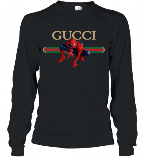 Gucci Logo Spiderman Long Sleeve T-Shirt