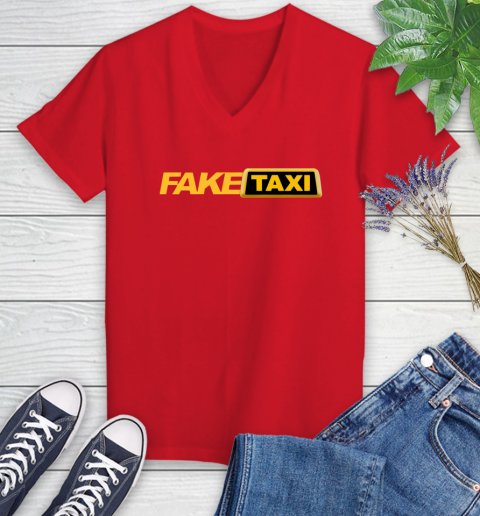 Fake taxi Women's V-Neck T-Shirt 12