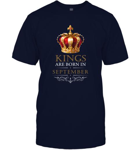 Kings Are Born In SEPTEMBER Birthday Men T-Shirt