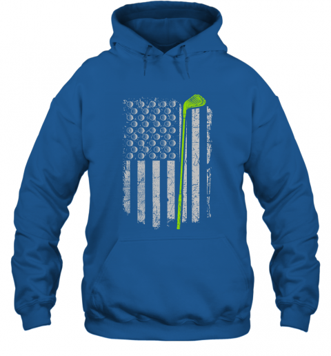 Golf American Flag Gift for Golf Player Love Golfing Hoodie