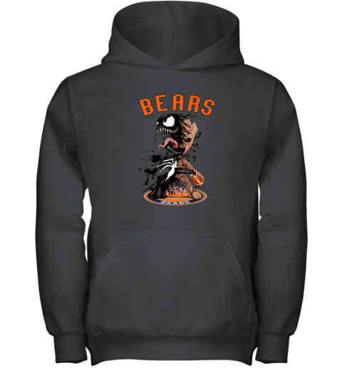 NFL Chicago Bears Football Venom Groot Guardians Of The Galaxy Youth Hoodie