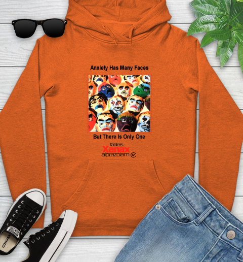 Anxiety Has Many Faces Xanax Promotional Shirt Youth Hoodie 3