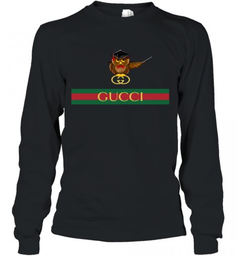Gucci Logo Owl Premium Long Sleeve T-Shirt
