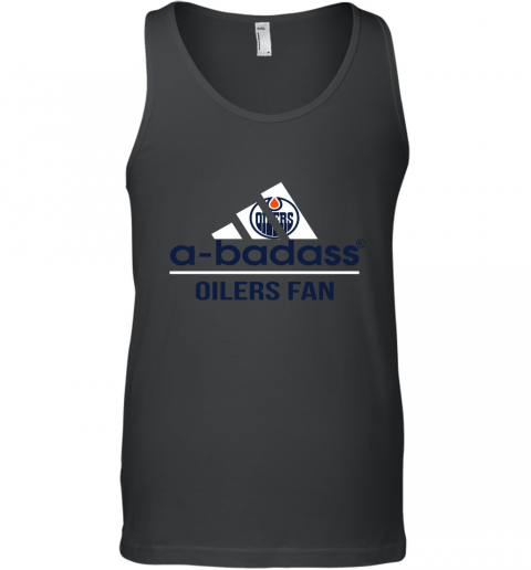 NHL A Badass Edmonton Oilers Fan Adidas Hockey Sports Tank Top