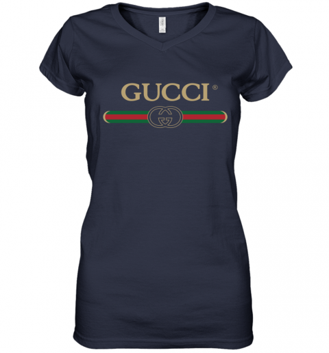 Gucci Shirt Logo Women's V-Neck T-Shirt