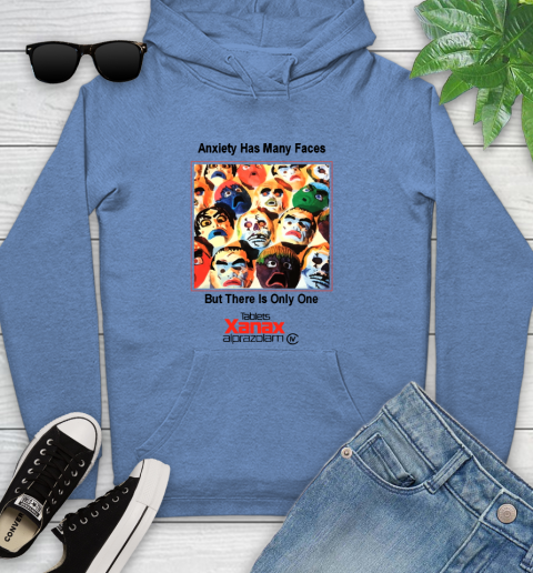 Anxiety Has Many Faces Xanax Promotional Shirt Youth Hoodie 8
