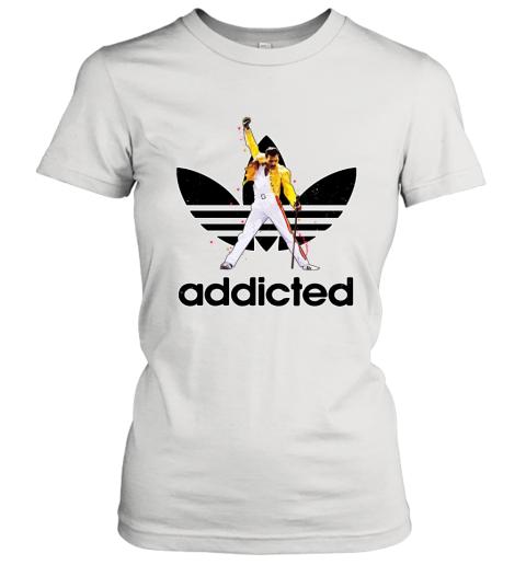 Queen Freddie Mercury Addidas Funny Logo Women's T-Shirt