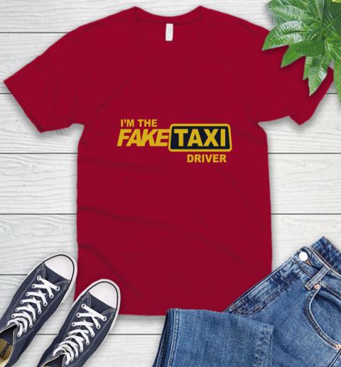 I am the Fake taxi driver V-Neck T-Shirt 8
