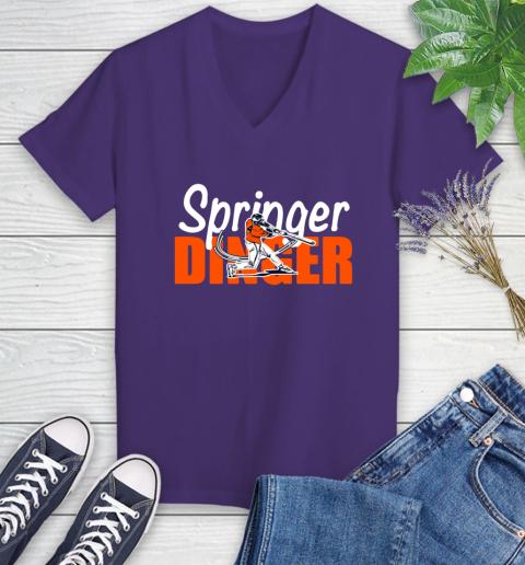 Houston Springer Dinger Fan Shirt Women's V-Neck T-Shirt 3