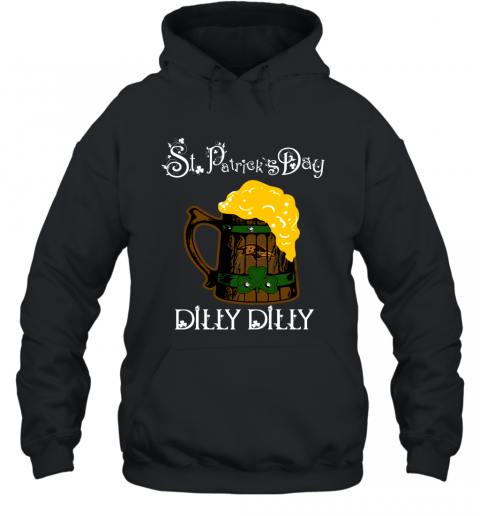 NFL Baltimore Ravens St Patrick's Day Dilly Dilly Beer Football Sports Hoodie