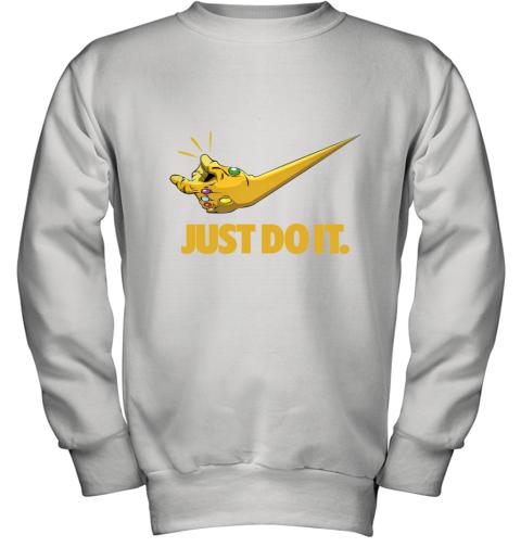 Just Do It Infinity Gauntlet – Thanos Nike Logo Youth Sweatshirt