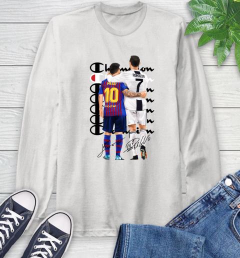 Champion Ronaldo and Messi Signatures Long Sleeve T-Shirt