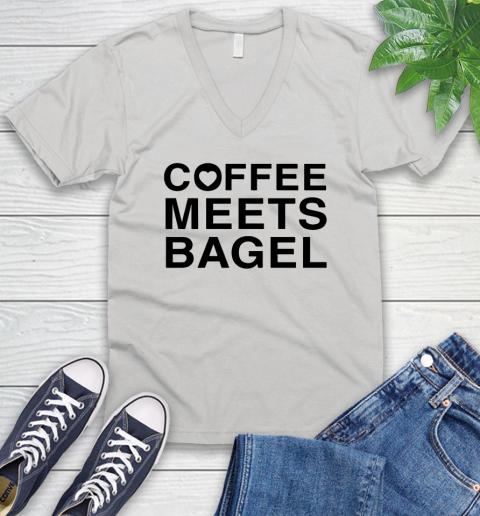 Coffee Meets Bagel Black V Neck T Shirt