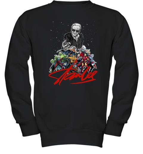 Stan Lee Thanks for the Memories Super Hero Marvel Youth Sweatshirt