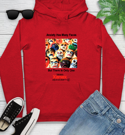 Anxiety Has Many Faces Xanax Promotional Shirt Youth Hoodie 7