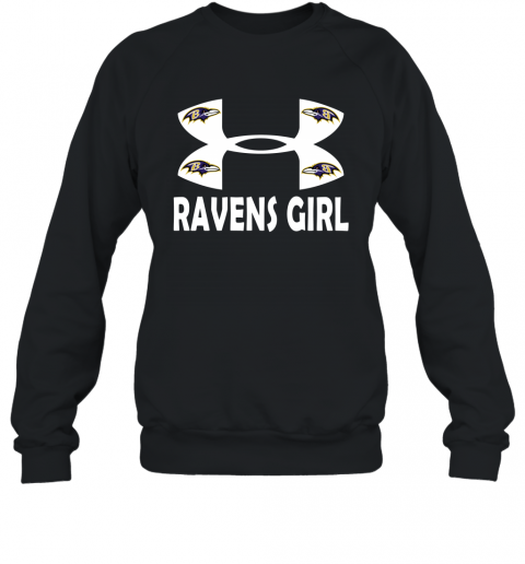 NFL Baltimore Ravens Girl Under Armour Football Sports Sweatshirt