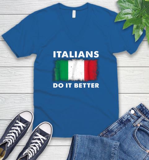 Italians Do It Better V-Neck T-Shirt 5