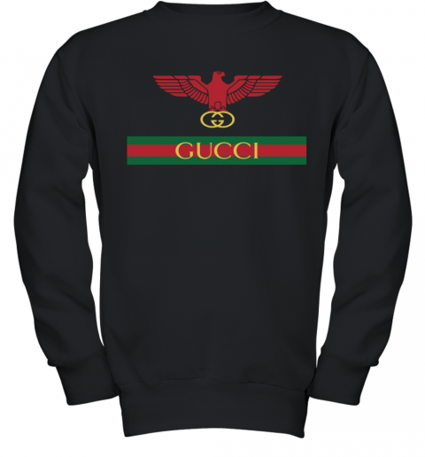 Gucci Menswear Logo Eagle Fire Youth Sweatshirt