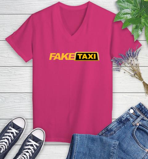 Fake taxi Women's V-Neck T-Shirt 9