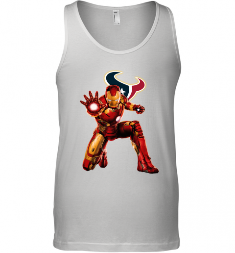NFL Iron Man Marvel Avengers Endgame Football Sports Houston Texans Tank Top